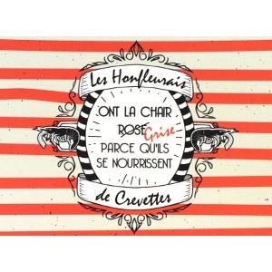 Carte postale Crevette Honfleuraise