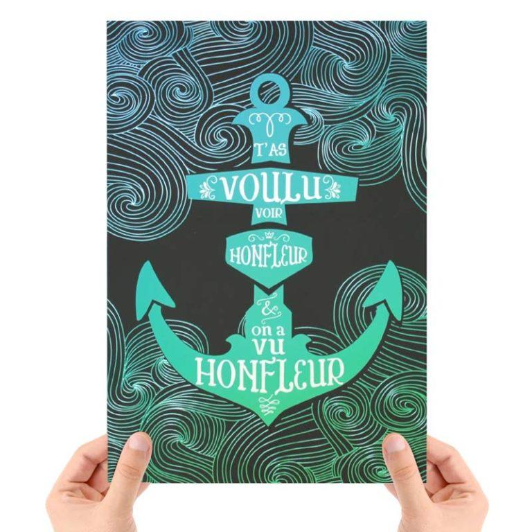 Affiche T'as voulu voir Honfleur
