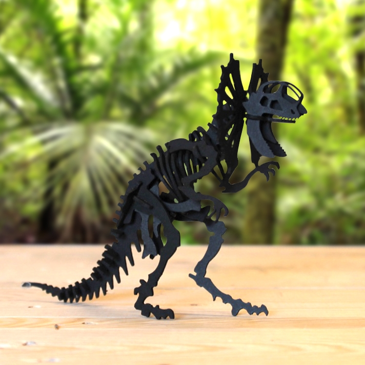 Dilophosaurus en carton