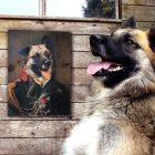 Portrait ancien sur bois