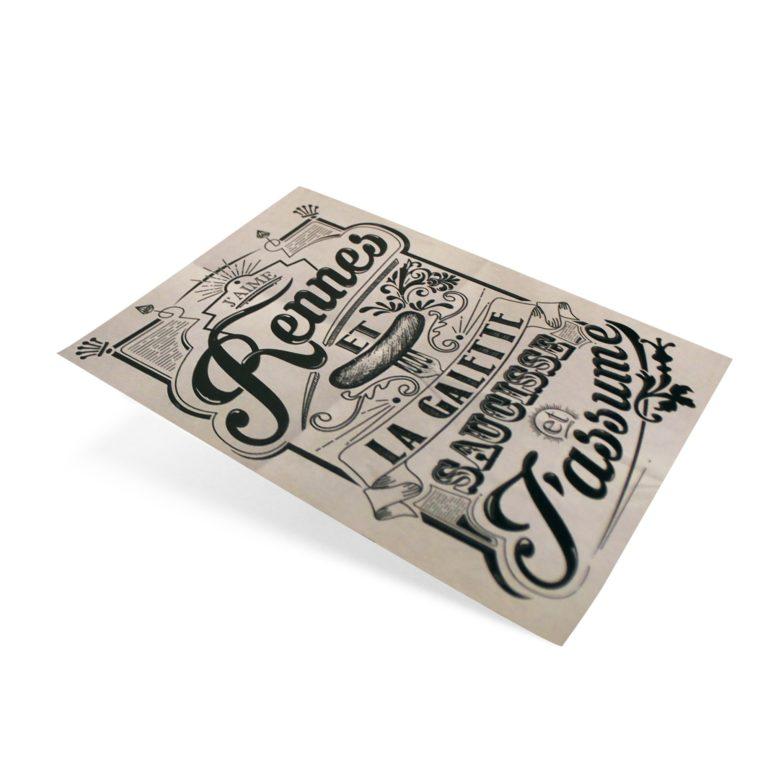 Carte postale Galette Saucisse