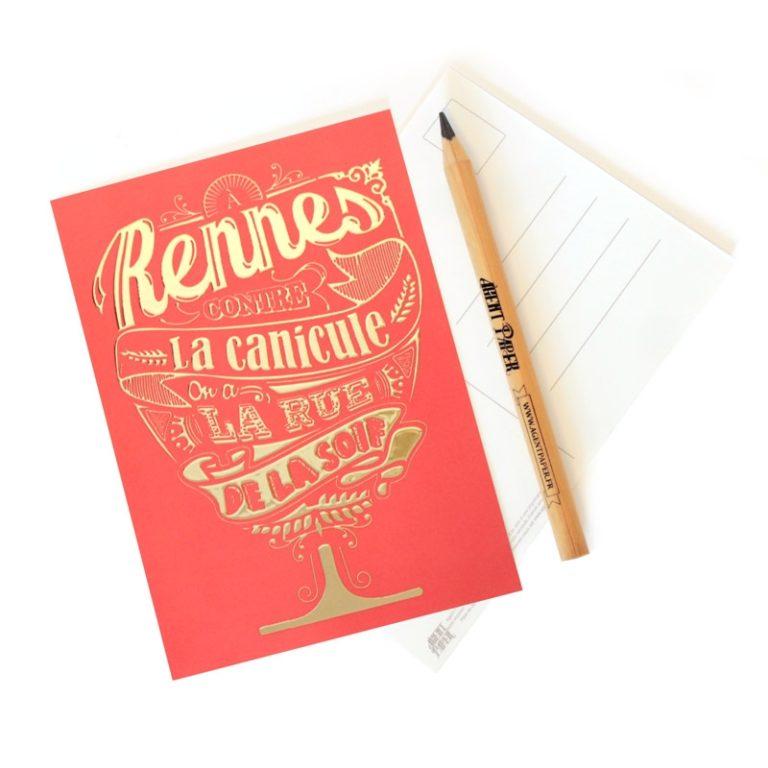 Carte postale Rue de la Soif