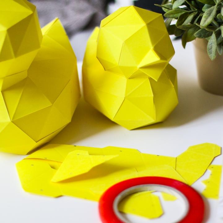 2 paper ducks