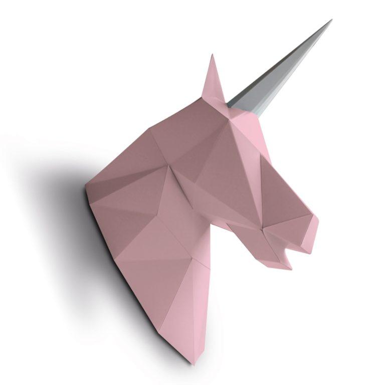 Licorne en papier 3D