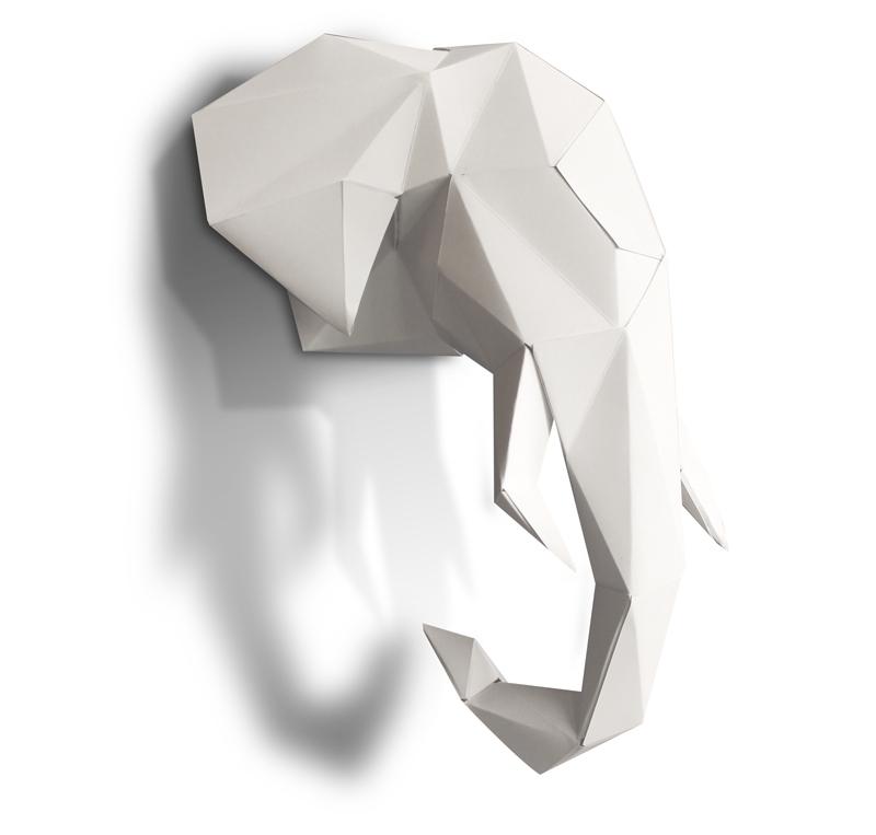 Eléphant en papier 3D