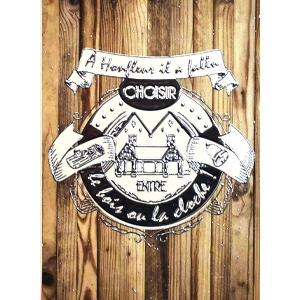 Carte postale Cloche ou Bois