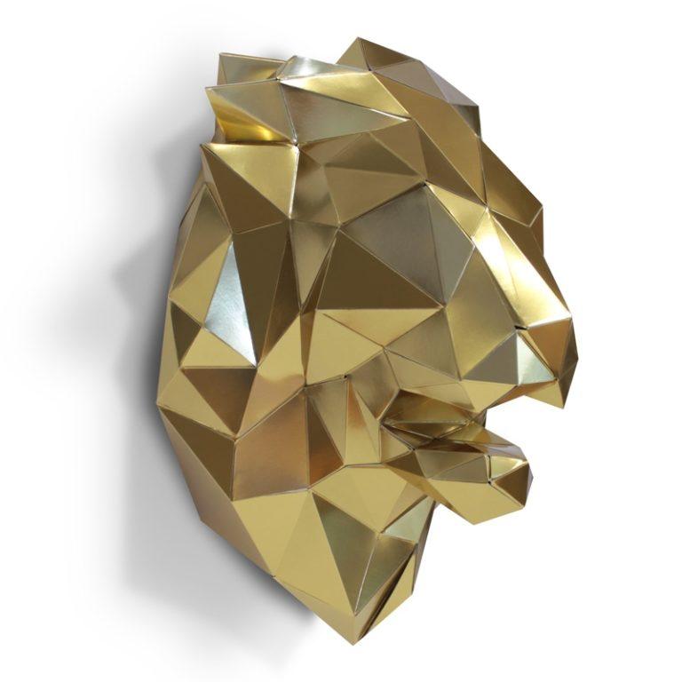 3D paper lion's head