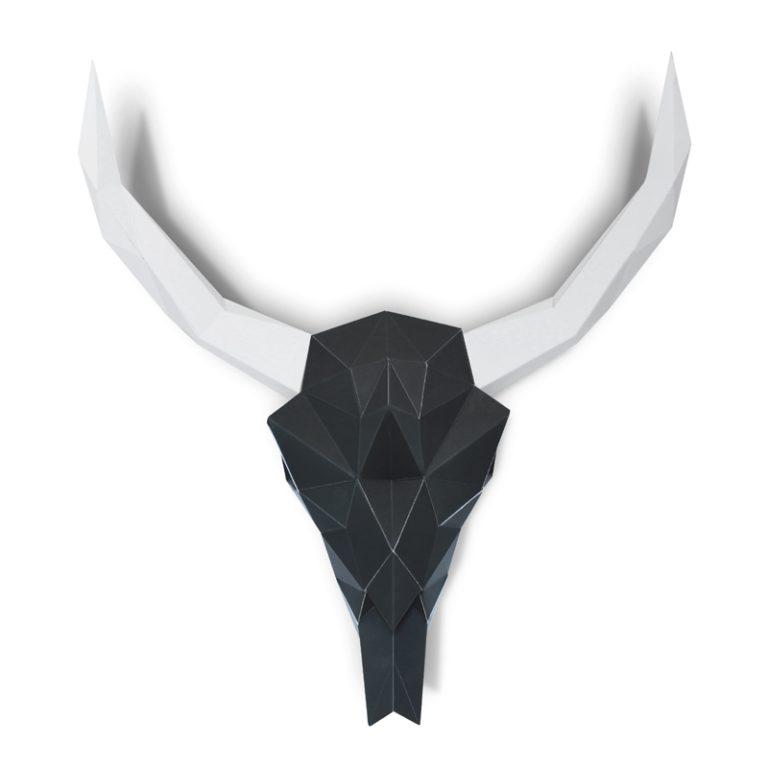 Paper buffalo skull