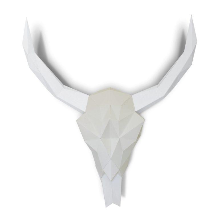 Crâne de bison en papier