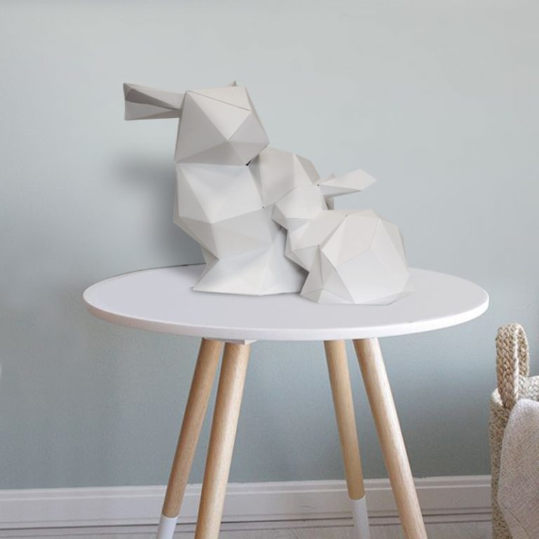 3D paper bunny