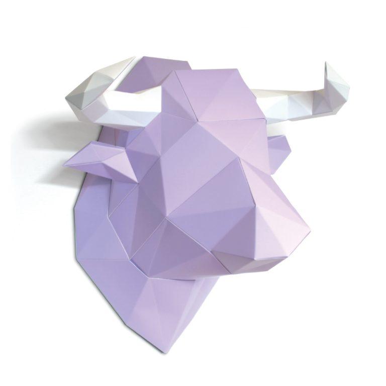 Vache en papier 3D