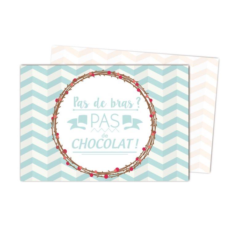 Set Pas de Chocolat plastifié