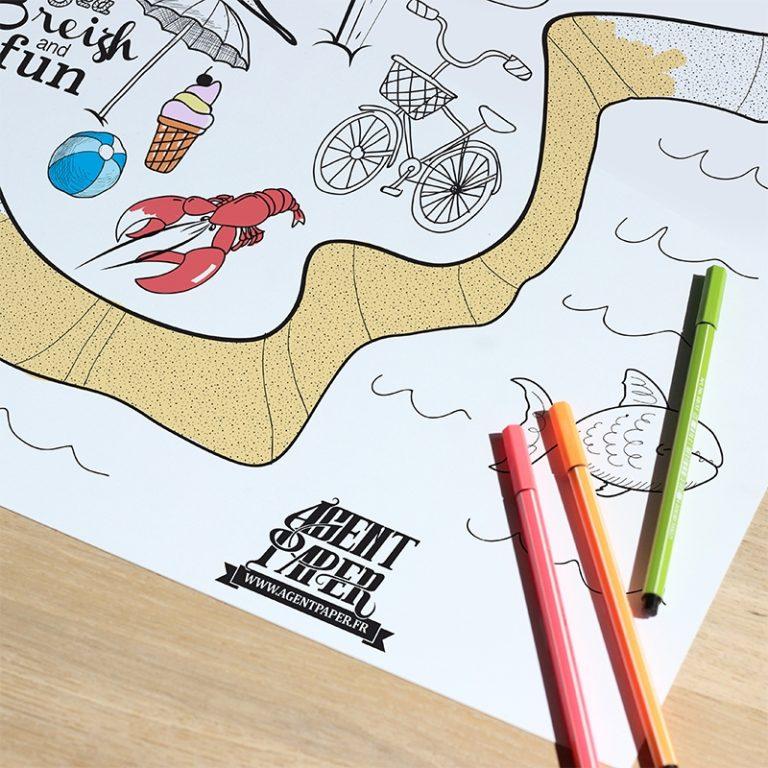Poster Rennes à colorier