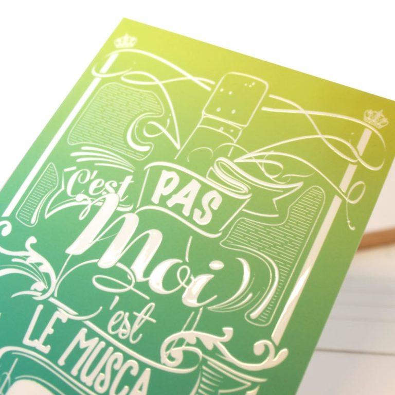 Carte postale C'est le Musca'