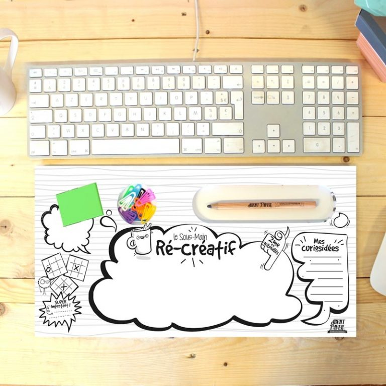 Fun desk pad