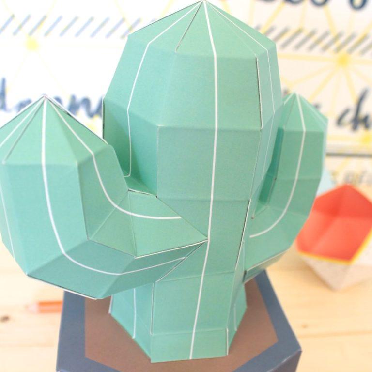 Cactus en papier 3D