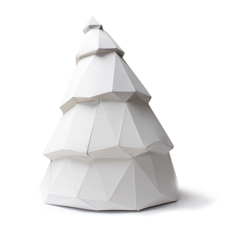 Sapin en papier 3D