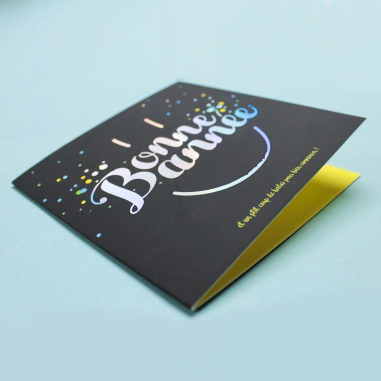 Carte de voeux Confettis