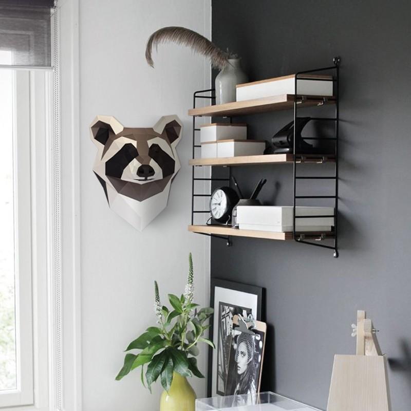 3D paper raccoon