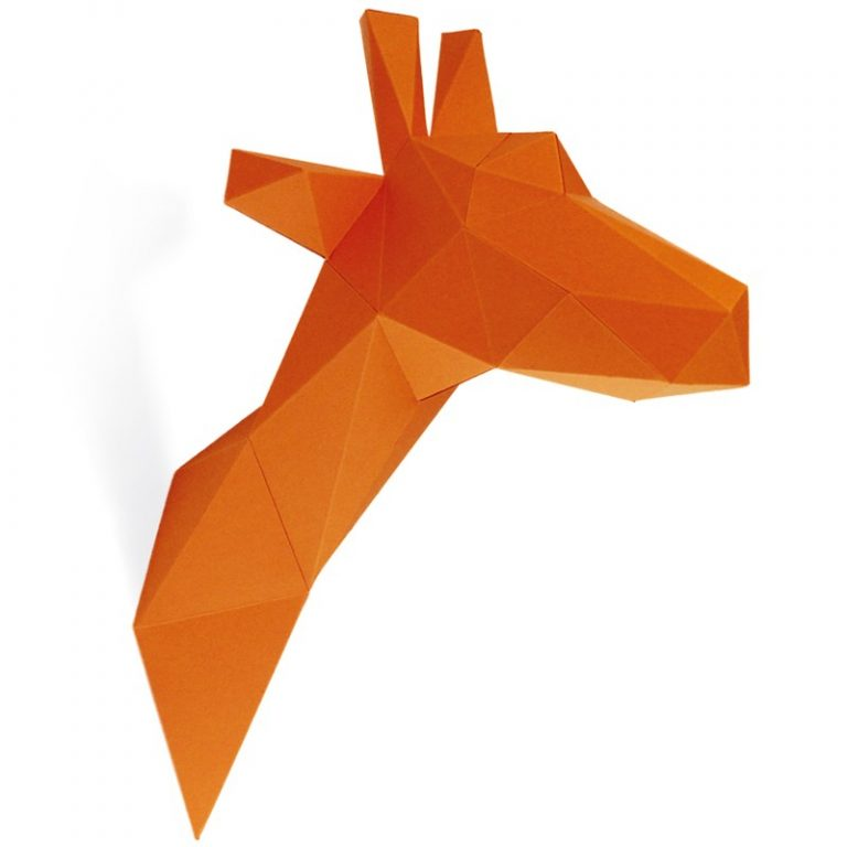 GIRAFE EN PAPIER 3D