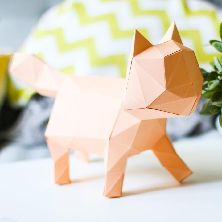 3D PAPER CAT