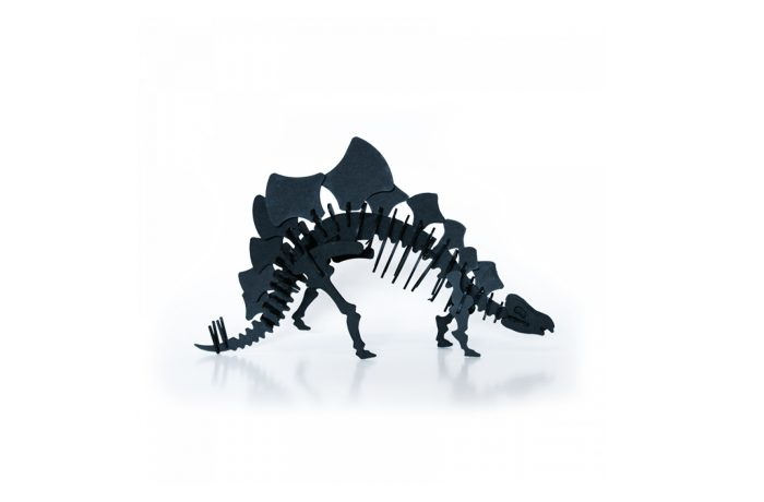 Cardboard stegosaurus 1