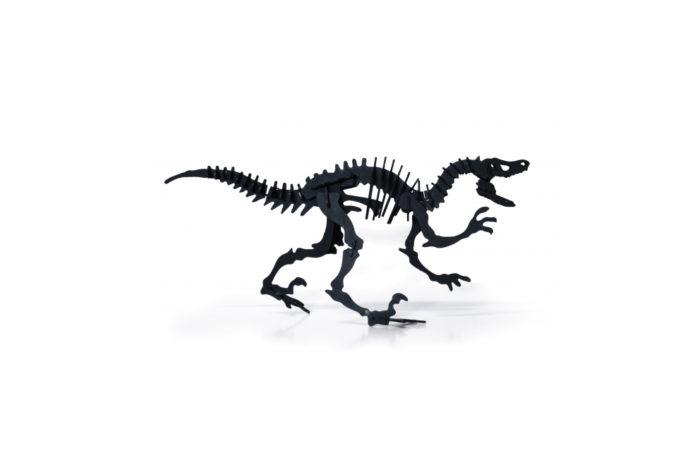 Cardboard velociraptor 1