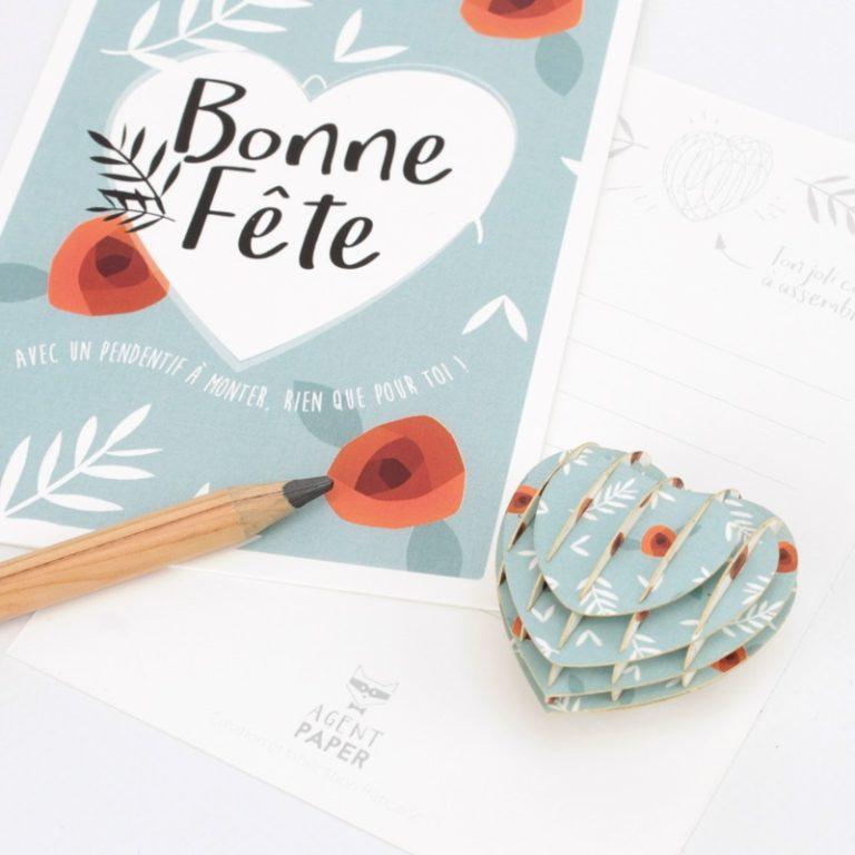 CARTE BONNE FêTE COEUR
