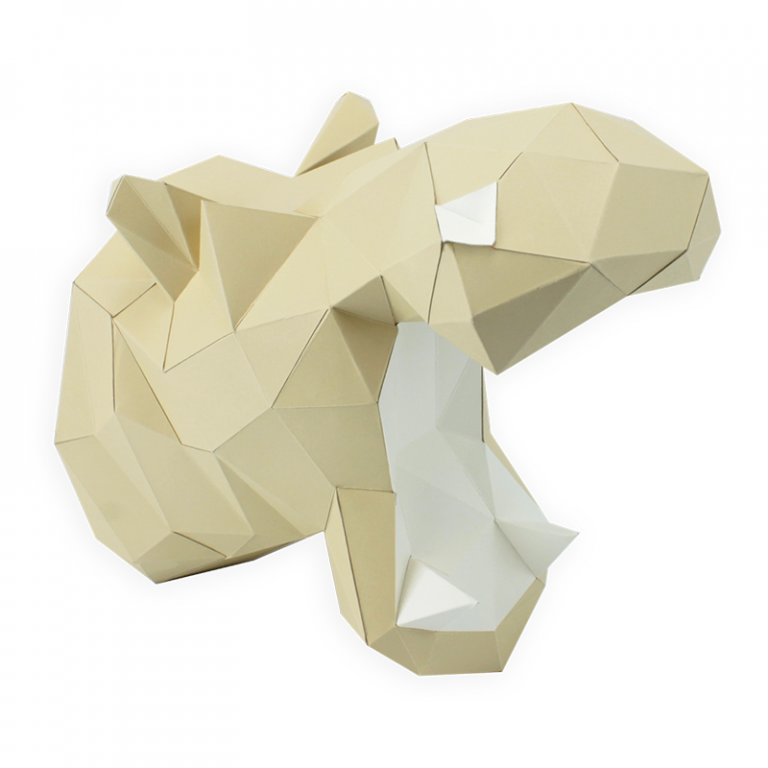 3D PAPER HIPPO