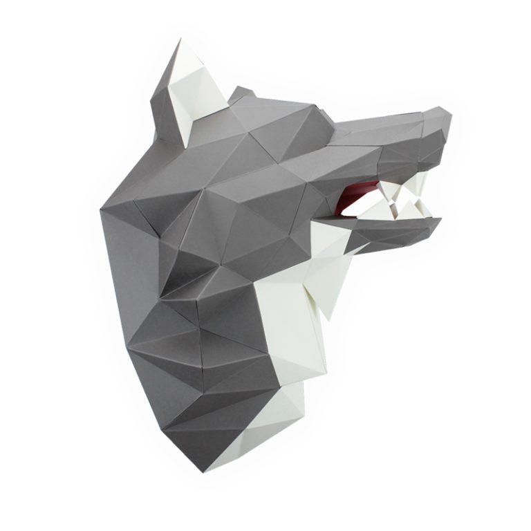 3D PAPER WOLF