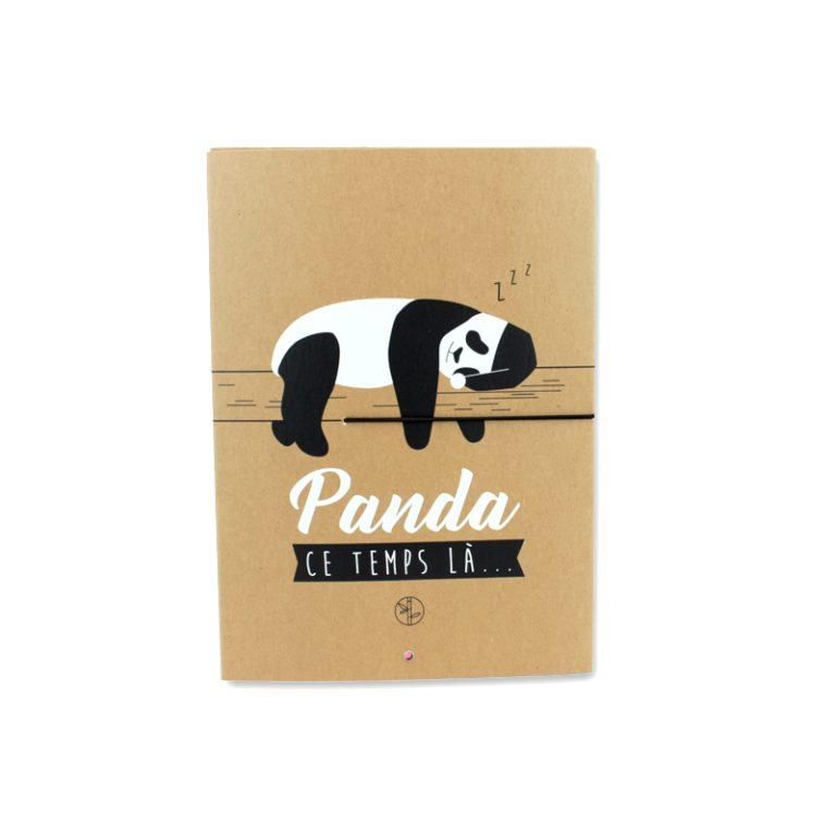 Carnet kraft panda