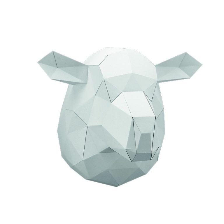 Gilles le mouton sans laine en papier 3D