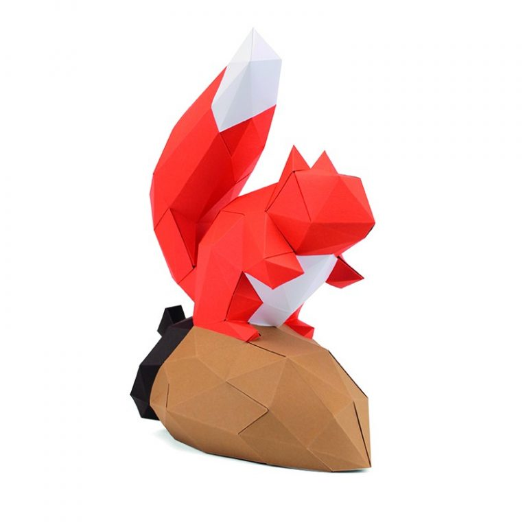 Gédéon the 3D paper squirrel