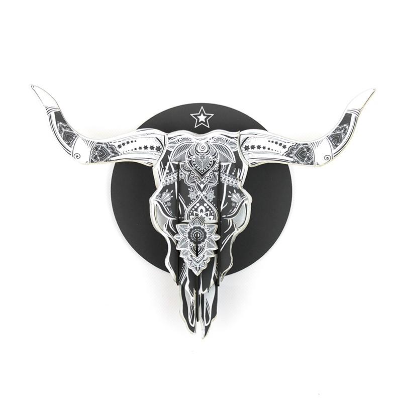 """Tête de bison """"arizona"""" en carton pulp"""