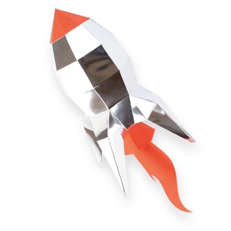 Fusée en papier 3D