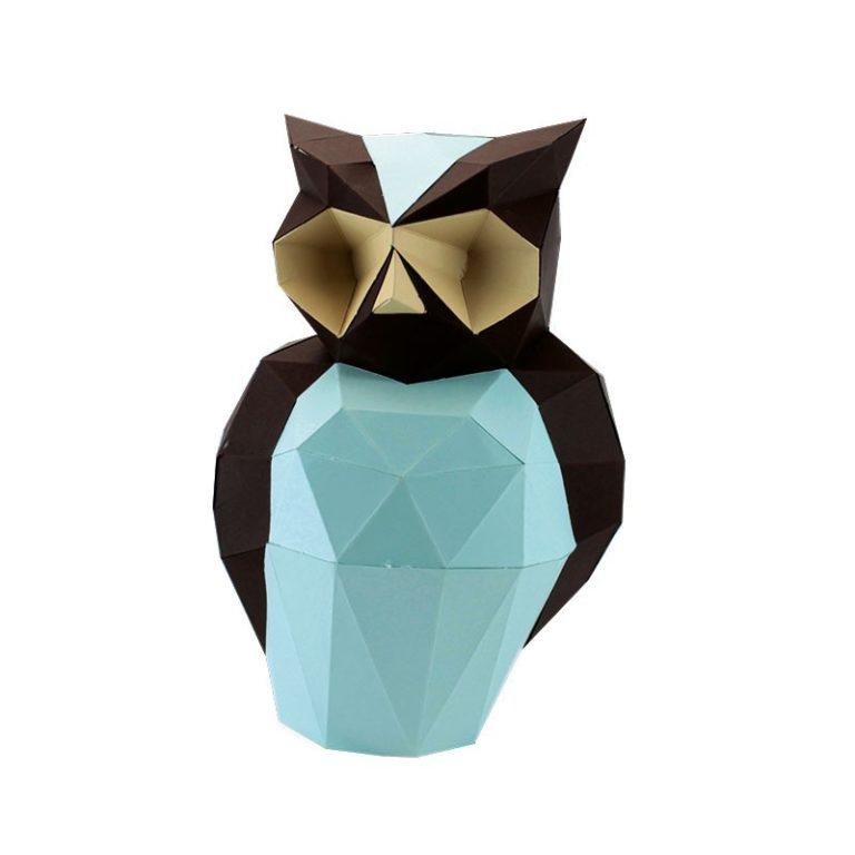 Aristote le hibou en papier 3D