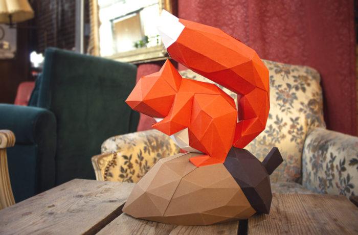 Gédéon l'écureuil en papier 3d 2 3760271832799