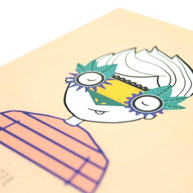 """Carte postale """"Petits Caractères"""" Coquin"""