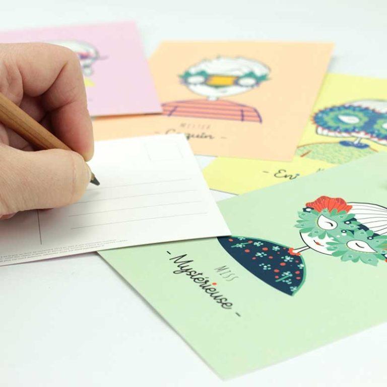 "Cheeky ""Mystery Team"" postcard"