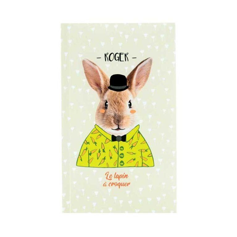 Carnet A6 Roger le lapin