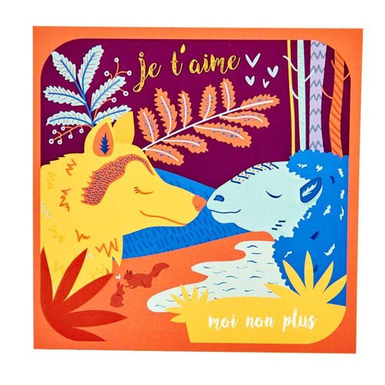 I Love You Wood card