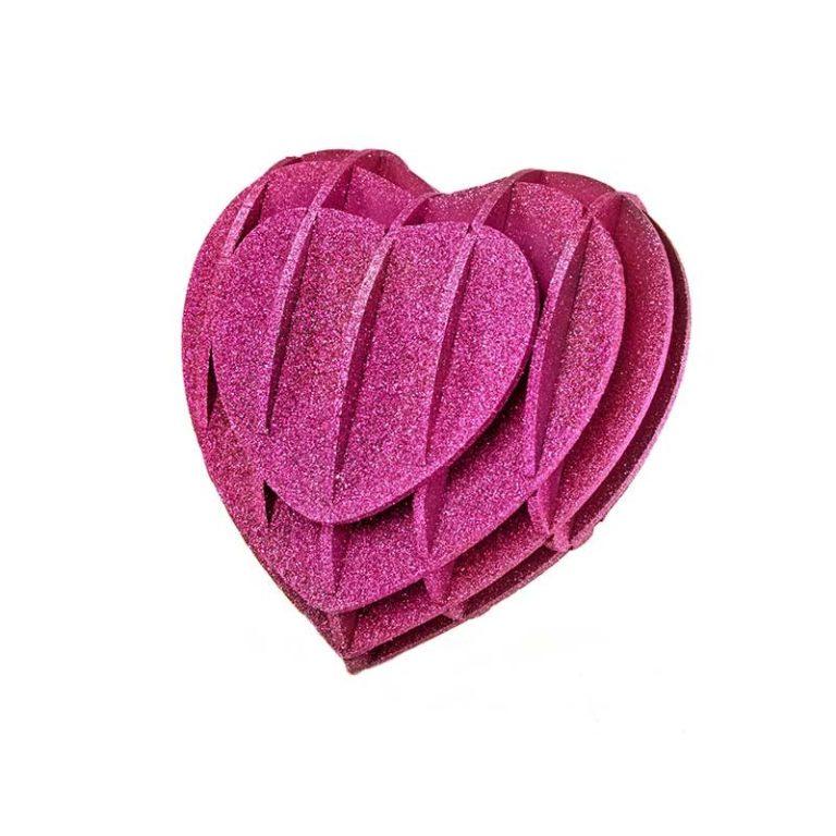 Coeur en carton 3D