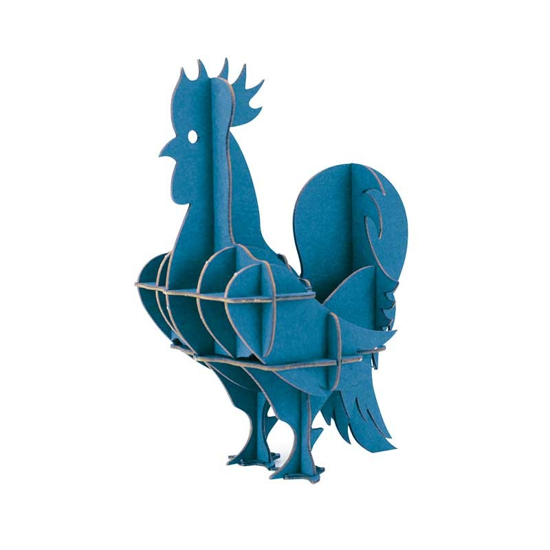 Coq en carton 3D