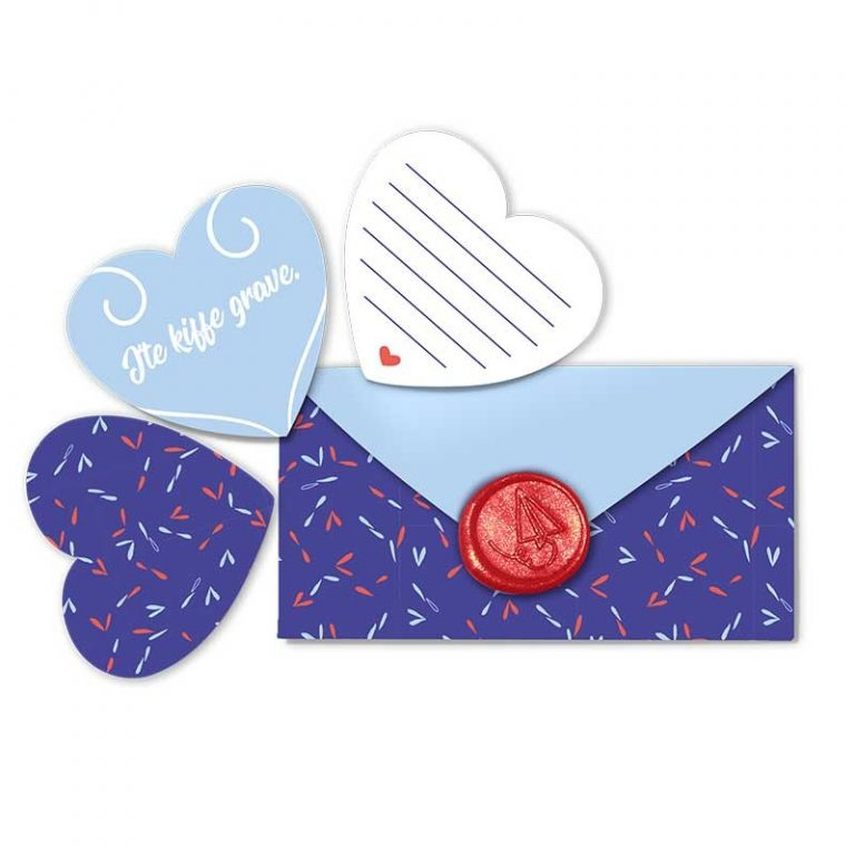 Enveloppe coeur à message