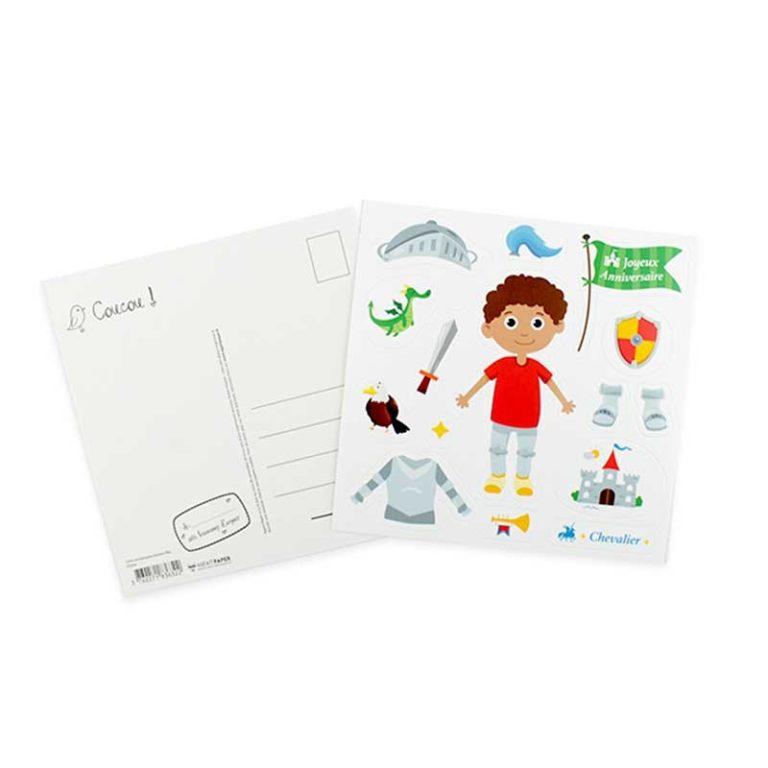 Stickers birthday card for a boy