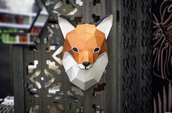 Petit renard en papier 3D