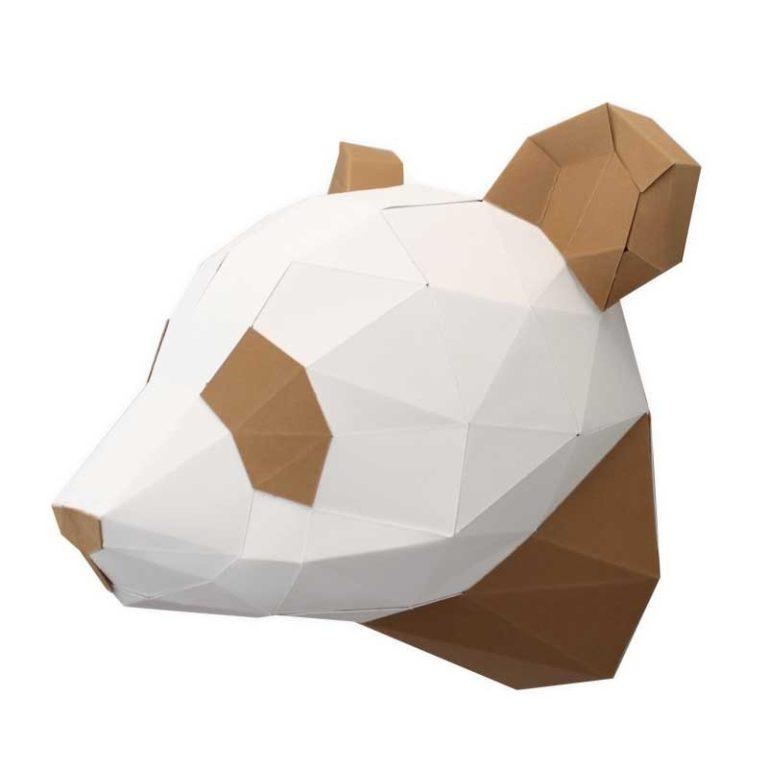 Petit panda en papier 3D