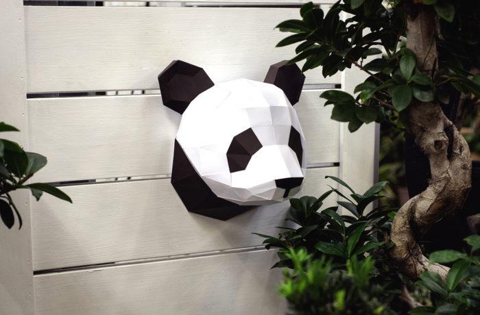 Small 3D paper panda 1