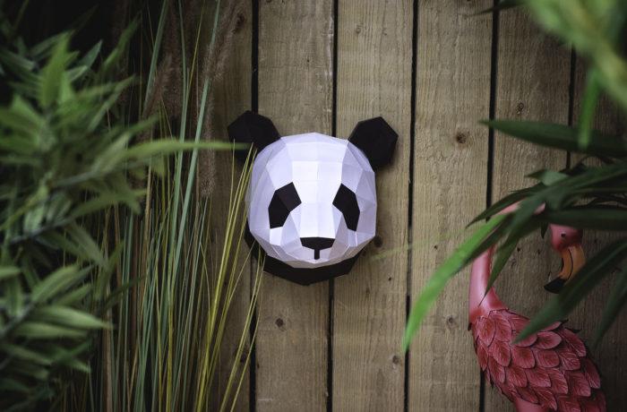 Small 3D paper panda 2