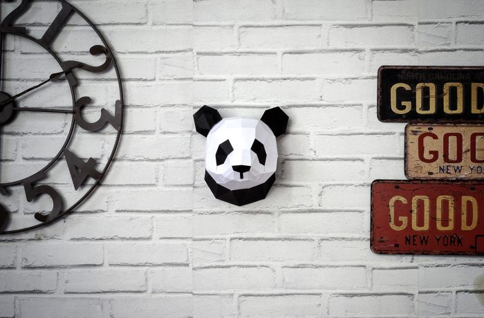 Small 3D paper panda 3